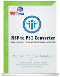 The box of eSoftTools NSF to PST converter software