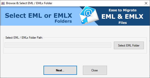 select eml file for gmail import