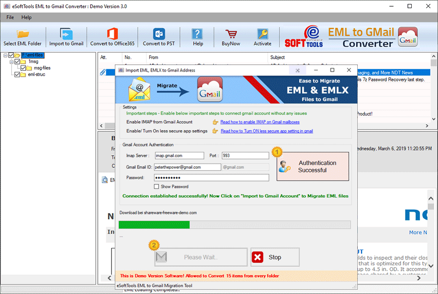 eml to gmail conversion