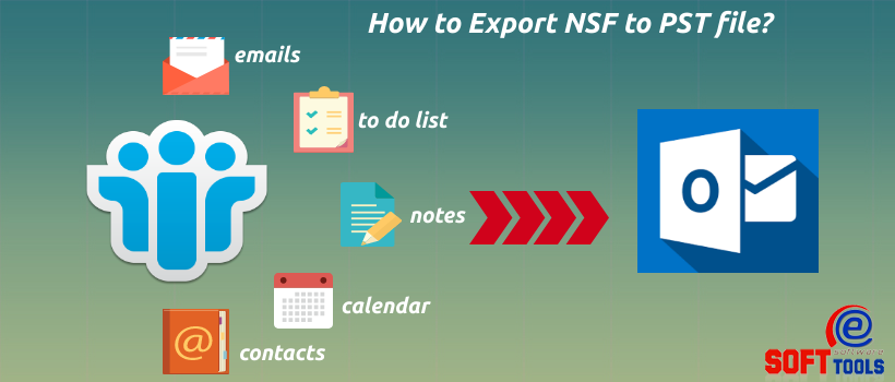 how to export nsf to pst
