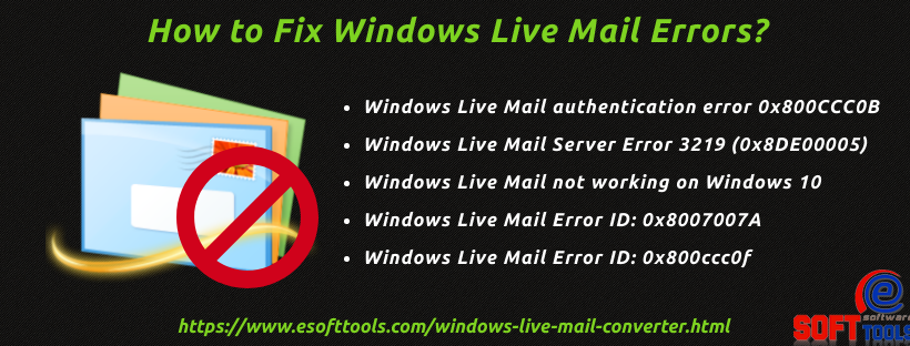 How to Fix Windows Live Mail Errors