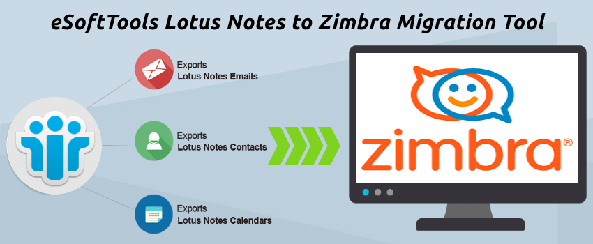 eSoftTools Lotus Notes to Zimbra Migration Tool