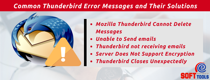 Common Thunderbird Error Messages and Their Solutions