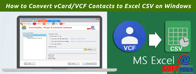 How to Convert vCardVCF Contacts to Excel CSV on Windows