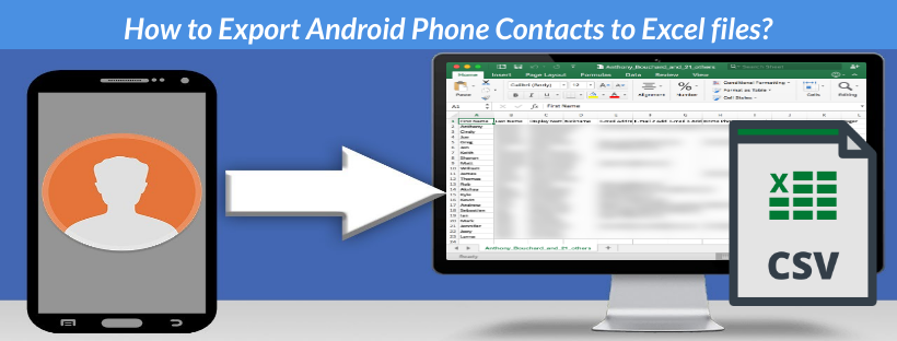 export android contacts to excel csv