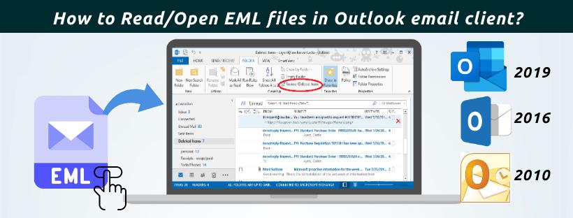 Open EML files in Outlook