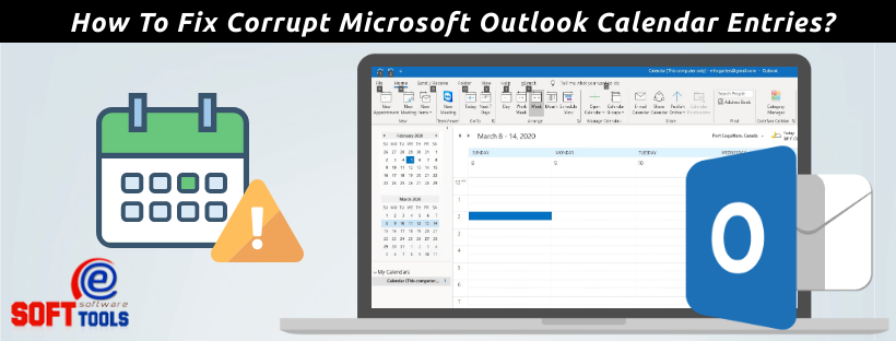 how to fix corrupt microsoft outlook calendar entries