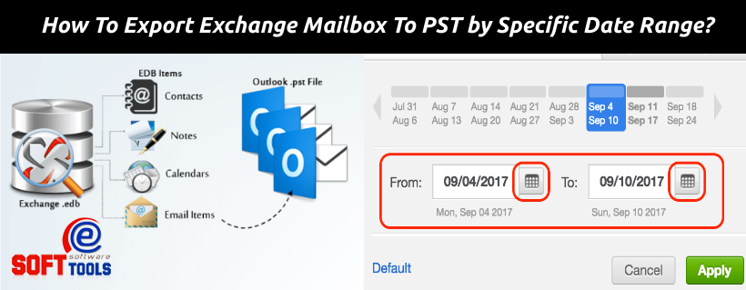 How To Export Exchange Mailbox To PST by Specific Date Range