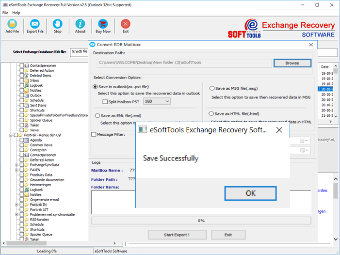 Click to download Exchange EDB to PST Recovery