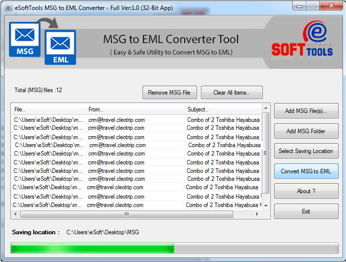 Effective MSG to EML Converter Software