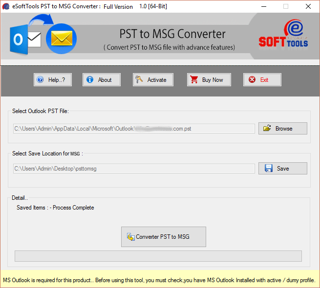 PST to MSG converter software