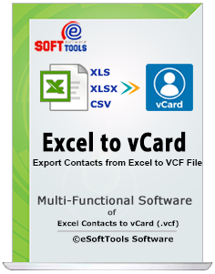 eSoftTools Excel to vCard Converter