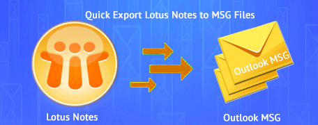 convert Lotus Notes to MSG file