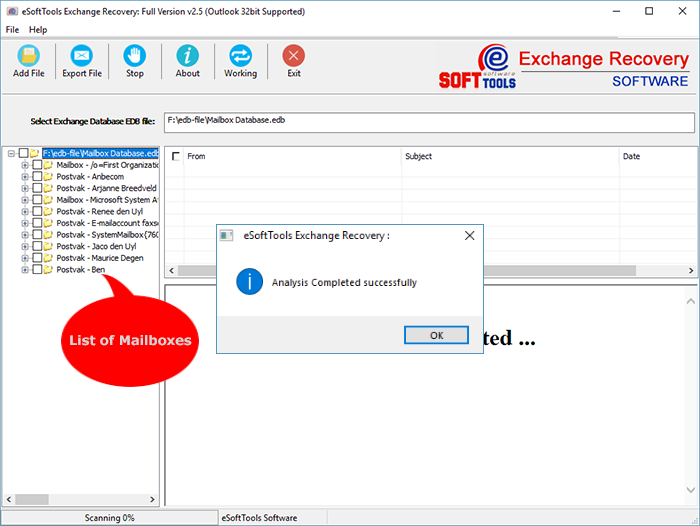 recover exchange database