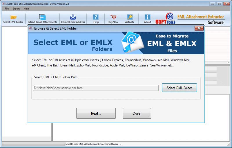 Select EML/EMLX Folder