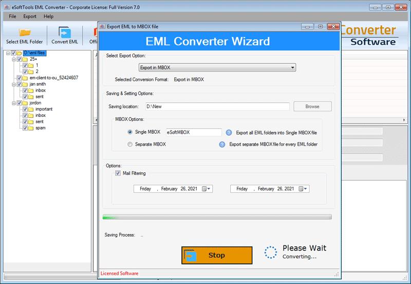 Convert EML to MBOX