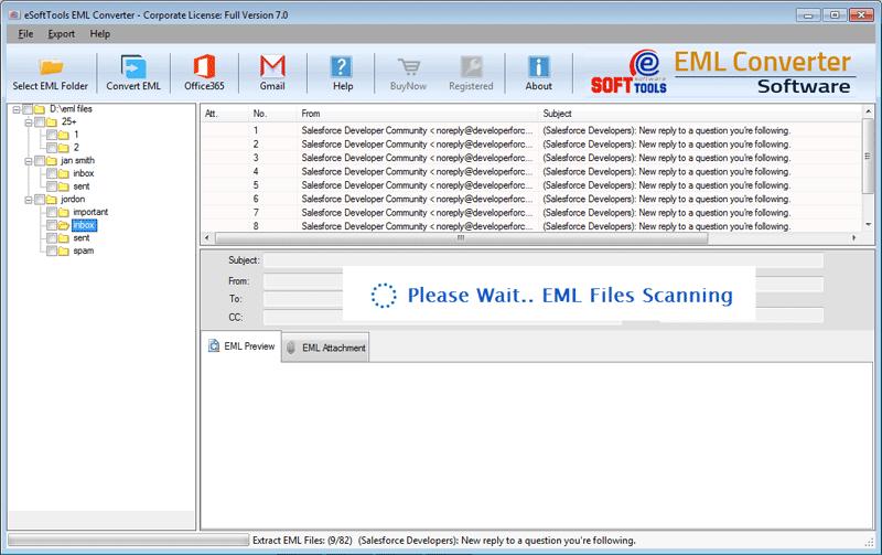 EML files Scanning