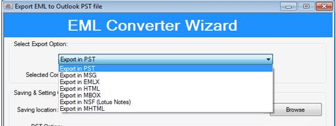 Conversion formats