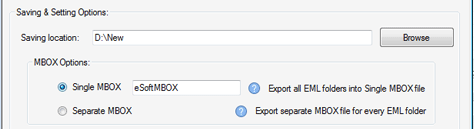 Export in MBOX
