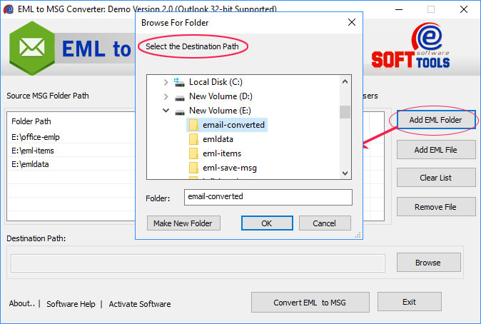 Save EML as MSG File