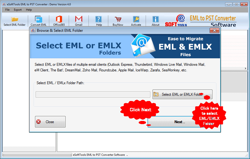 add eml folder for conversion