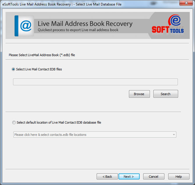 Live Mail Contacts Converter