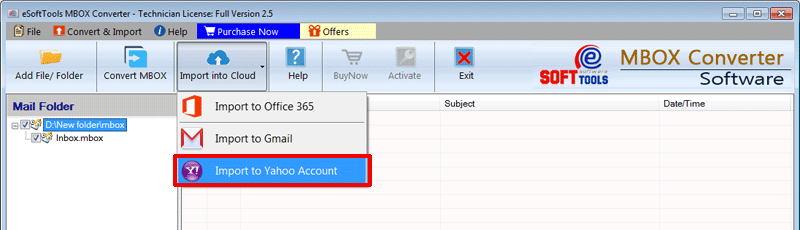 Import MBOX to Office365
