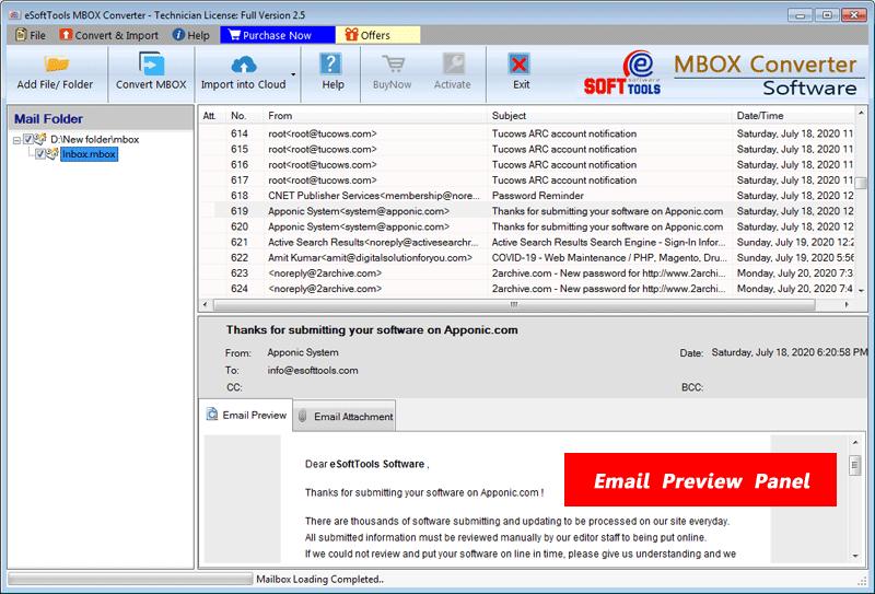 eSoftTools MBOX Converter