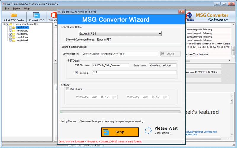 MSG File conversion