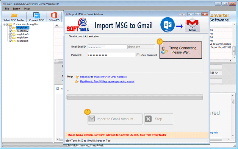 Import MSG to Gmail