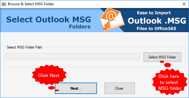 select msg file for migration