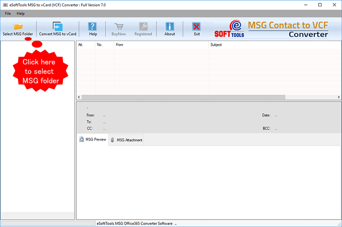 Export MSG Contact