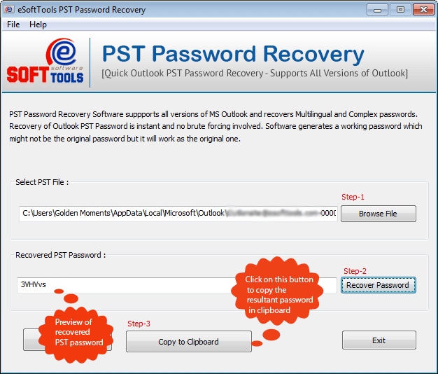 eSoftTools PST Password Recovery