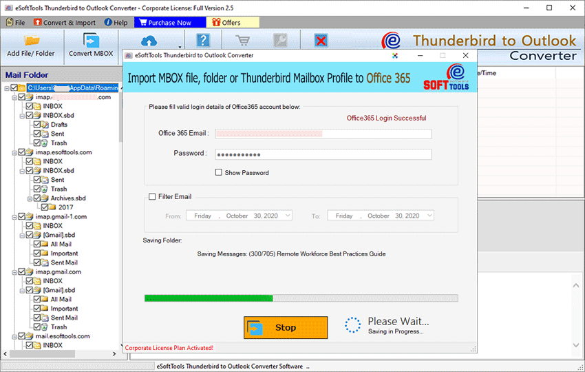 import thunderbird to office 365