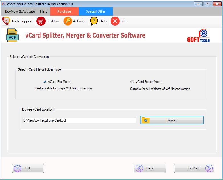 Select VCF file/folder