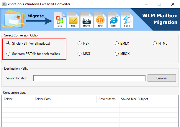 wlm to pst conversion